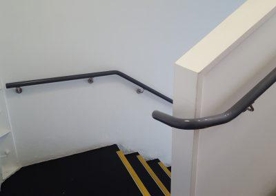 Continuous Powder Coated Aluminium Handrails - Sports Academy Wellington