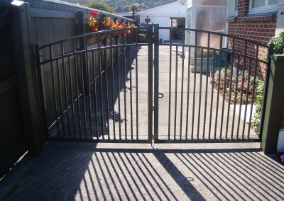 Custom made double swing driveway gate