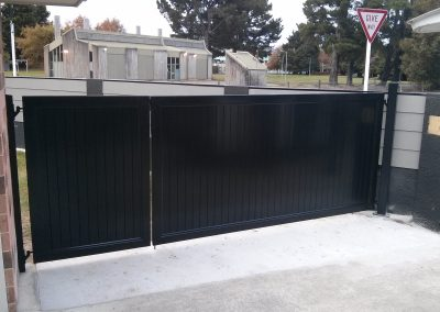 Custom made vertical T&G vehicle and pedestrian gates