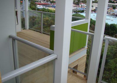Decor Glazed Balustrade - HNZ new build McCauley Street