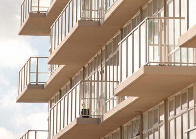 Decor Glazed Balustrade - Retrofit Gateway Apartments