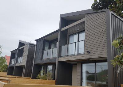 Decor Glazed Balustrade - new build Derwent Street