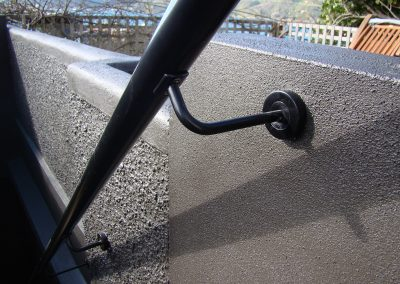 Exterior Handrail with extended brackets