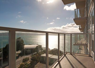 Framed Glazed Balustrades - Gateways Apartments