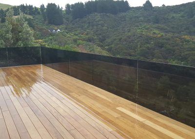 Frameless Glazed Balustrade channel side fixed for maximum deck space and view