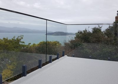 Glass Vice Balustrade with stainless steel capping rail