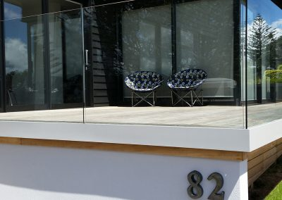Glazed Balustrade with concealed face fixed channel for clean lines