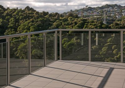 Glazed Overheight Spectra Balustrade with Handrail - Bowen Centre