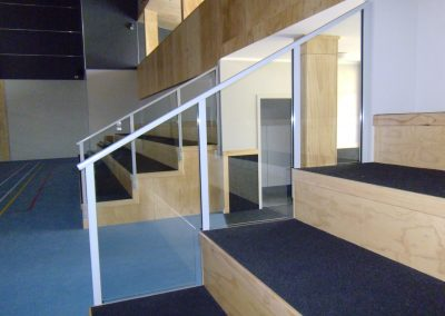 Glazed Raked Balustrade with Handrail - Rongotai College