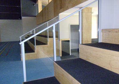 Glazed Raked Balustrade with Handrail - Rongotai College