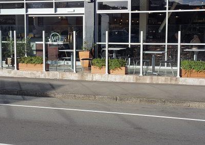 Overheight Glazed Windage Screen - Mediterannean Food Warehouse Newtown