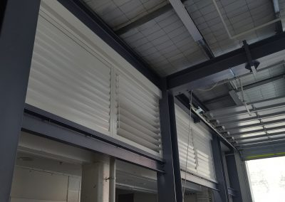 Powder Coated Aluminum Opening Louvres and Metal Shutters - Newtown Fire Station