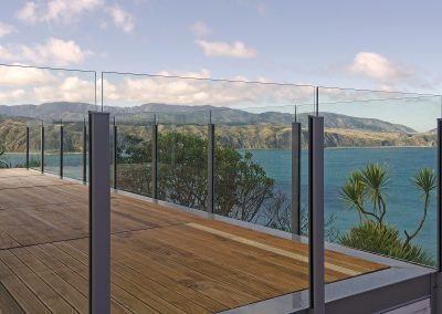 Semi-Frameless Balustrade face fixed for maximum deck space