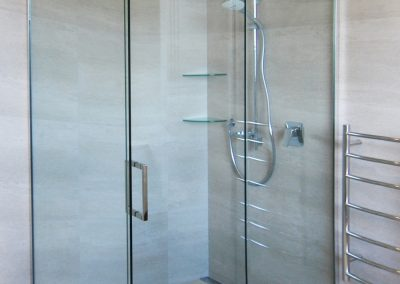 Sliding Shower Door with chrome hardware