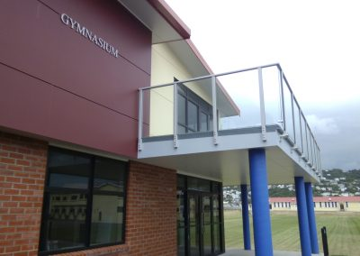 Spectra Glazed Balustrade with no lower rail - Rongotai College Gymnasium