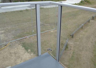 Spectra Glazed Balustrade with top rail - Rongotai College Gymnasium