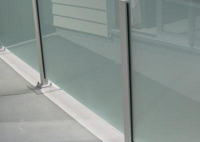 Semi-Frameless Vetro Glazed Balustrade, opaque for privacy