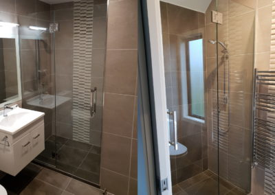 Custom Made Frameless Glazed Shower Door and Screen