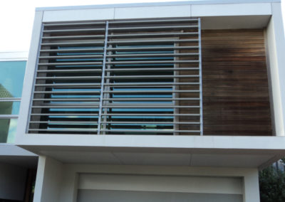 Fixed Louvre Shutters for shade and privacy