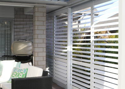 Sliding Deck Shutters add privacy and shelter