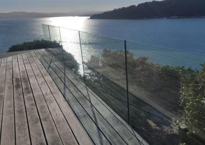 Custom design channel fixed Frameless Glazed Balustrade for high wind loads