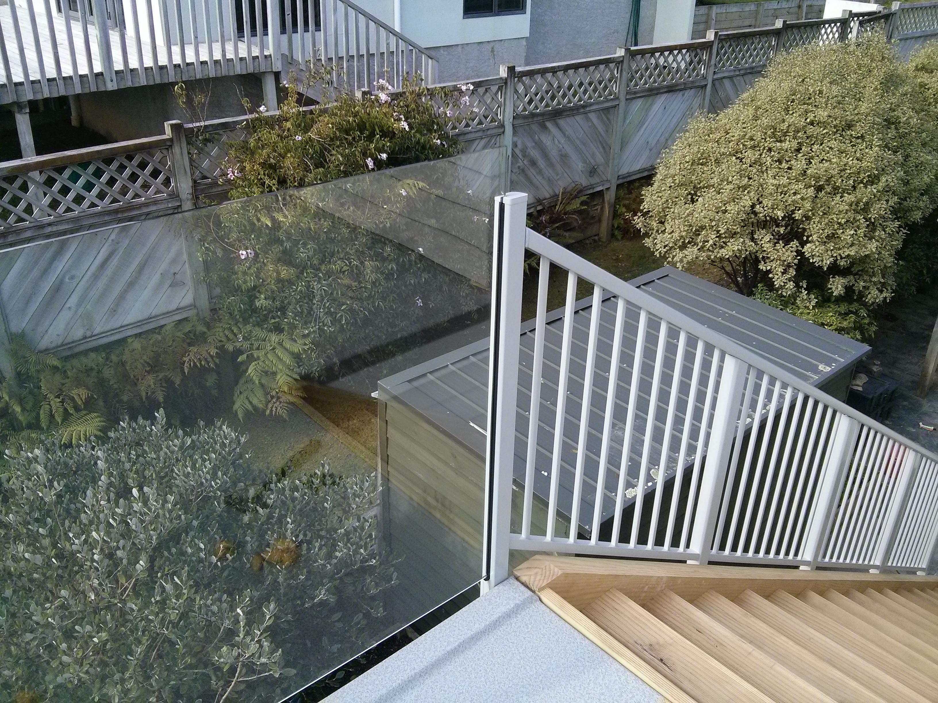 Custom designed glazed and aluminium Balustrades