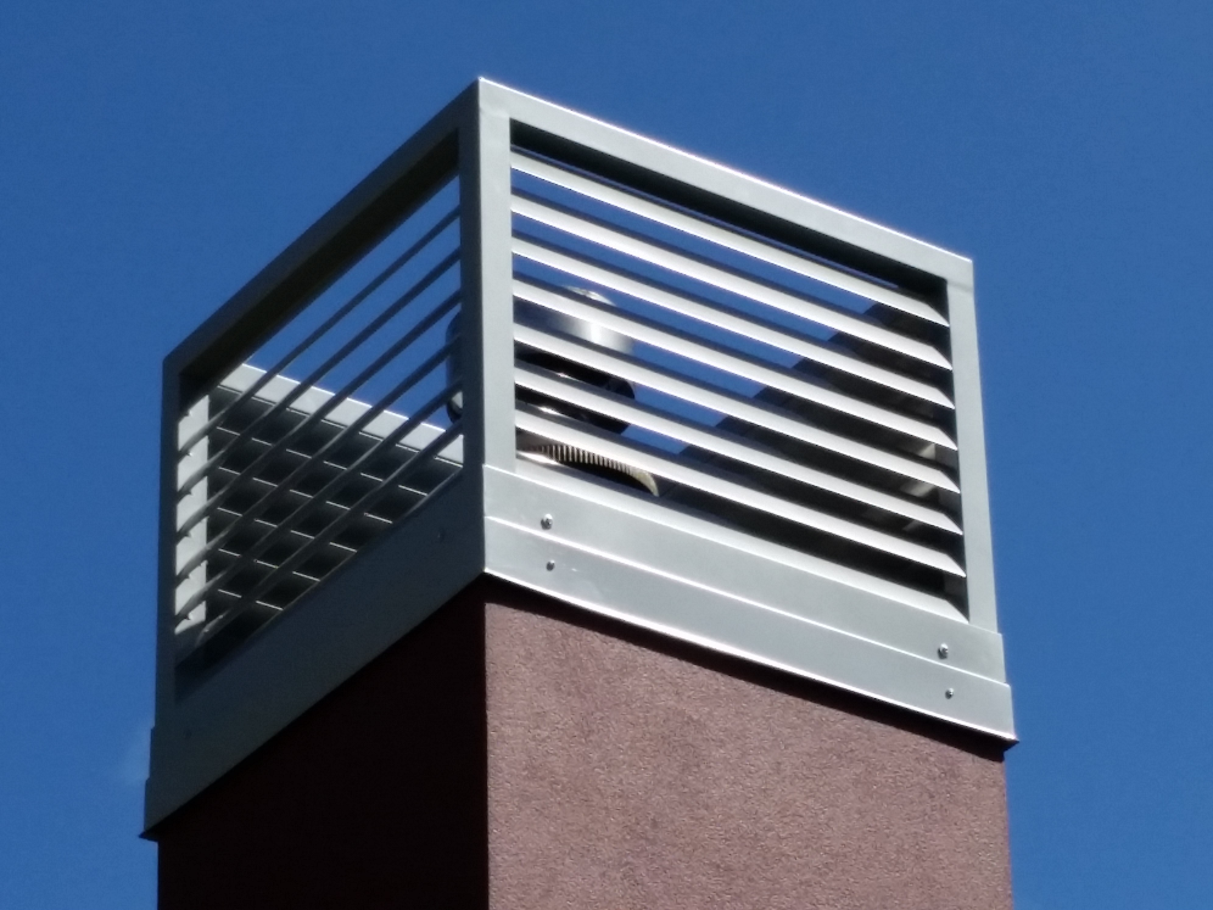 Custom made chimney cowling