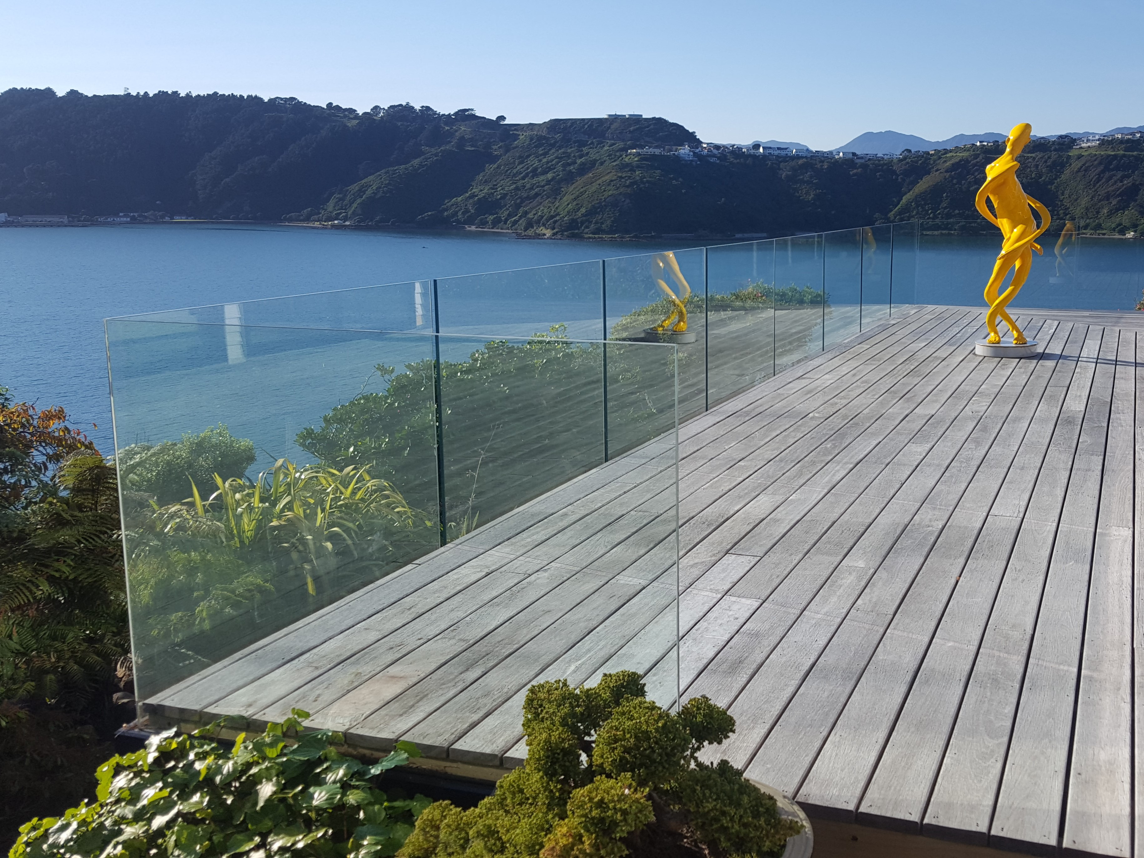 Frameless Glazed Balustrade channel fixed for uninterrupted view