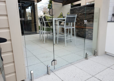 Glass Vice glazed gate and side panels for pool enclosure