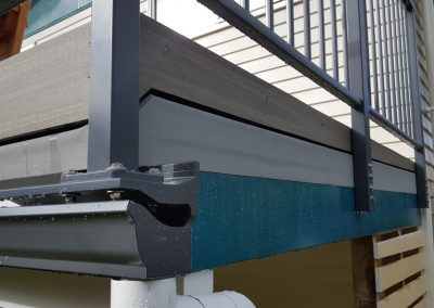 Gutter brackets are used with a membrane deck, or when top or side fixing is not available