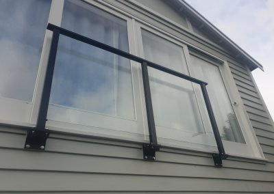 Safety screen (or Juliet Balcony) fitted on DKG brackets